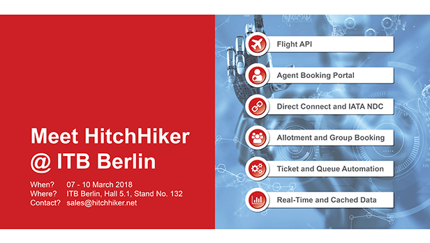 Meet HitchHiker at ITB Berlin 2018