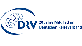 Logo 20-year membership in the German Travel Association (DRV)